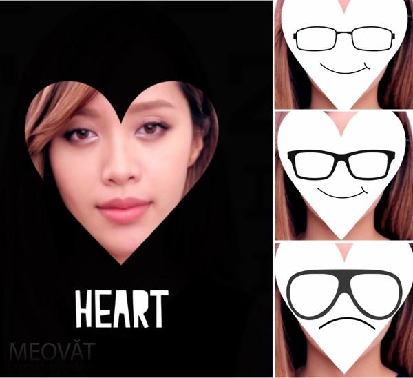 Khuân mặt hình trái tim