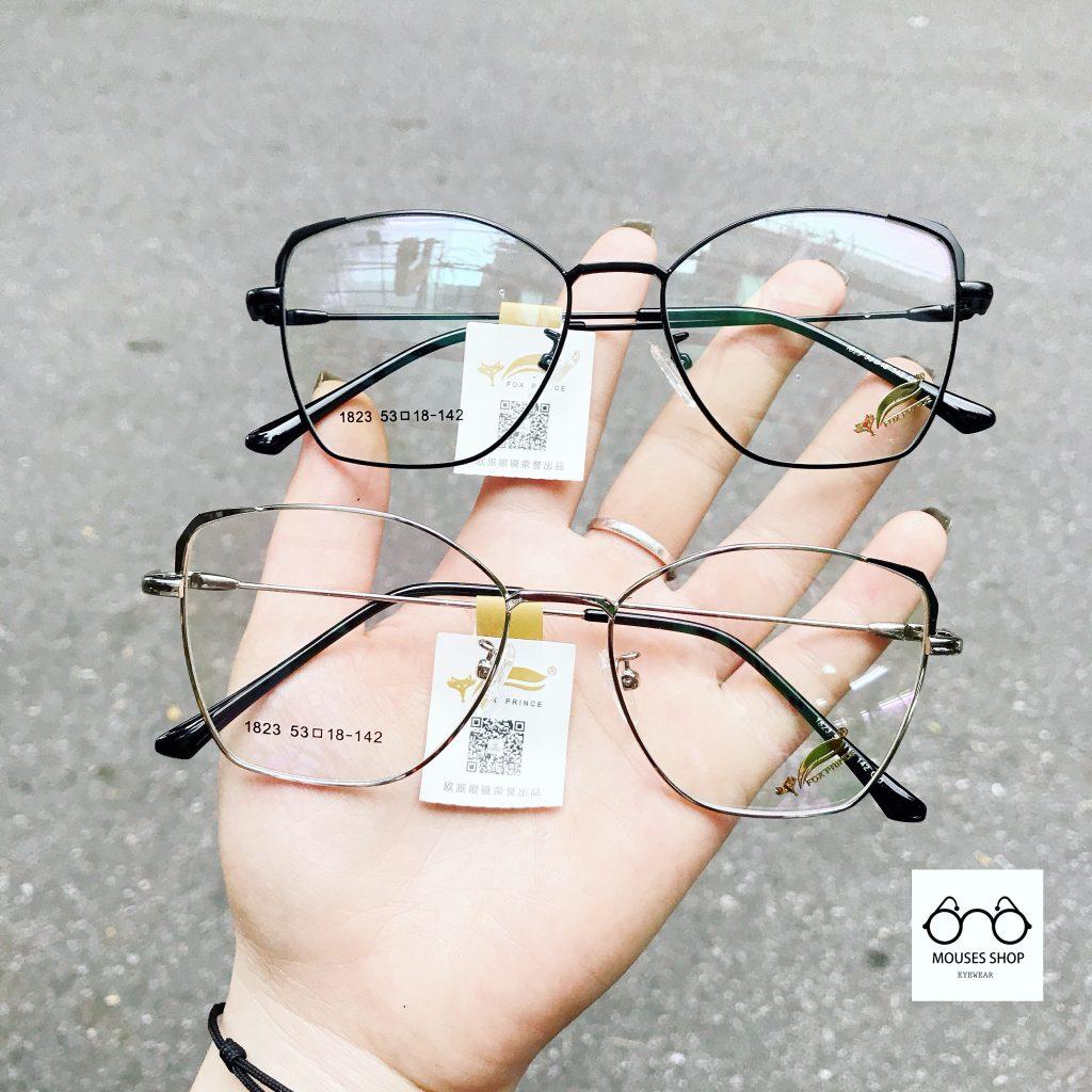 Gọng kính kim loại mắt dáng cánh bướm