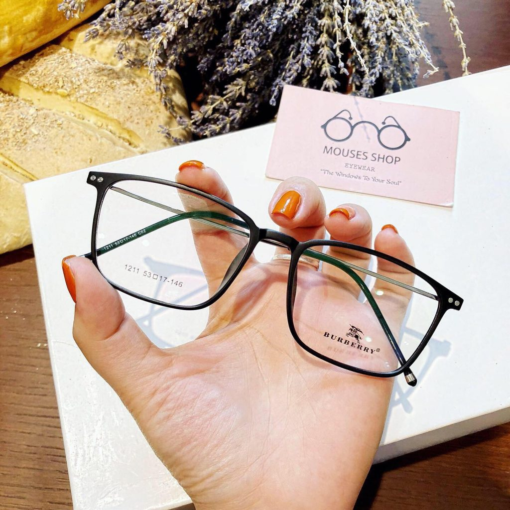 kính mắt vuông gọng nhựa dẻo nam nữ