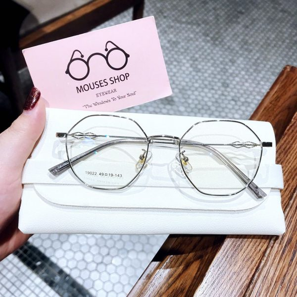 kính mắt kim loại lục giác nam nữ đẹp